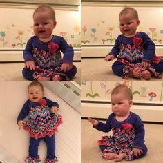 Amelia is seven months old today! She's been waiting to wear her fun new outfit from Grandma Deb and seven months seemed like a good time. There are so many fun things we've been up too. We really want to thank everyone for all of their love and support.