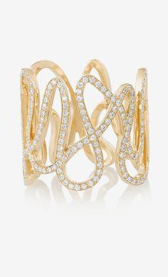 White Noise 18-karat gold diamond ring