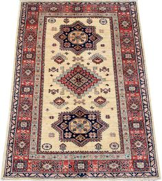 Today's Kazak is a modern shape of old Caucasian rugs which strictly adheres to traditional design elements of the Caucasus.  http://www.alrug.com/5176