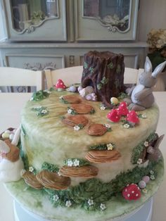 Easter Forest Cake