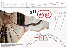 Tipare de croitorie - Pagina 2 Folk Clothing, Clothing Patterns, Doll Costume, Costumes, Costume Patterns, Peasant Blouse, Simple Shapes, Smocking, Anthropologie