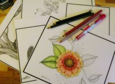 New coloring book in my Etsy shop. http://cottagegardenstudios.etsy.com