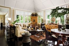 Exotic Living Room by Michael Fiebrich and Michael Fiebrich in Singapore