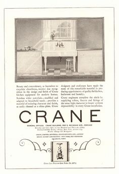 1923 Crane Sink Advertisement National Geographic January 1923 | by SenseiAlan
