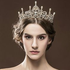 Excellent version of a late 19th century pearl foliate tiara