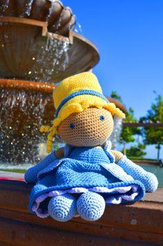 cinderella inspired crochet doll on Etsy, $70.00