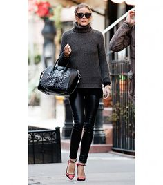 Ways To Make A Turtleneck Look Cool via @WhoWhatWear