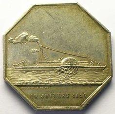 Cie des Gondoles a Vapeurs sur la Saône 1829, Francia