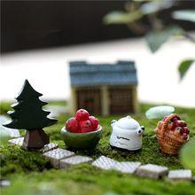 1Pcs/Lot Wholesale Fruits Basket Pine Tree Ornament Potted Plant Craft Home Garden Micro Landscape Mini Decoration(China (Mainland))