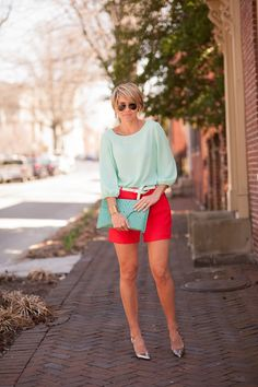 Mint and red