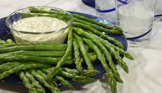Asparagus with Horseradish Dip from P. Allen Smith