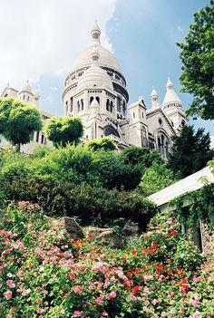 The Sacre Coeur Basilica in Montmartre - Paris