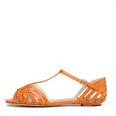 Mimco orange Abacus sandal