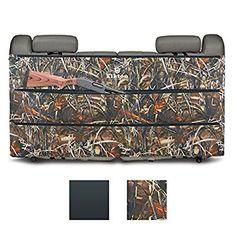 Elkton Back Seat Three Pocket Gun Case & Organizer ( Rifles, Pistols and Ammunition): The Perfect Lightweight Alternitive to Traditional Truck Gun Rack (Grassland Brown Camo)