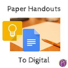 Poof! Paper Handouts