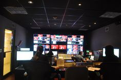 Inside the control room, making sure everything goes off without a hitch during the taping of Pulse.