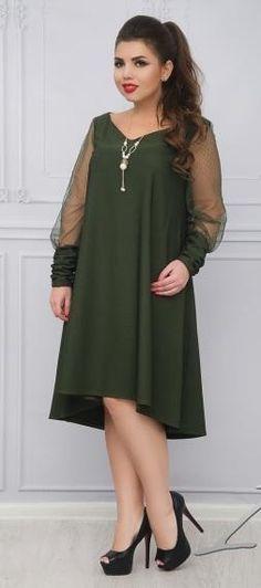 Elegant Long Sleeve Mesh Jewel Hi-Lo Loose Women s Evening Dress 2XL-6XL 3  Colors 4f9abf98fc8a