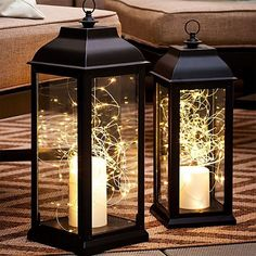 Lighted Lanterns! Love this and so easy to do yourself! #amazonaffiliate