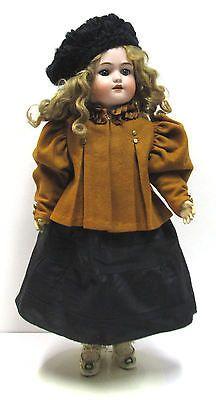 Antique Heinrich Handwerck Simon Halbig German Bisque Head Doll - Orig Wig/Shoes