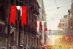 Stock Photo : Crowded Istiklal street in Istanbul