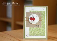 Stampinup Love you lots; Matchthesketch; stempel-biene; Grußkarte Marienkäfer; Stampinup stempelparty; stampin up bestellen