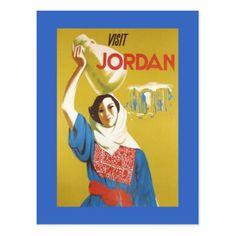Jordan postcard - vintage gifts retro ideas cyo