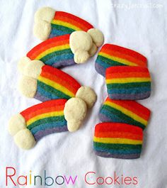 Nom nom! Rainbow slice cookies.