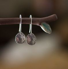 love these for everyday :: Sterling silver tear drop earrings