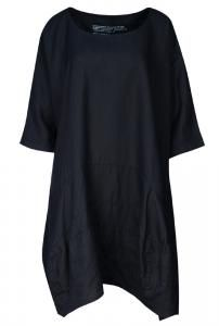 """Pure #linen #dress, generous in size. Curved panels give the #skirt real swing. Cool #mint is #grey to most eyes. Small measures 30"""" across . Washable at 30."""