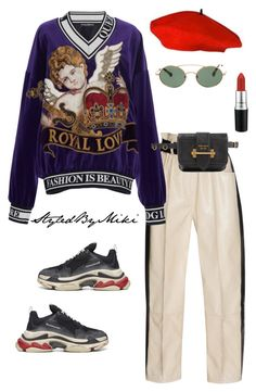 """Untitled #466"" by styledbymiki ❤ liked on Polyvore featuring Dolce&Gabbana, Prada, Balenciaga and MAC Cosmetics"