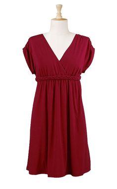 crimson kimono-style knit dress $55