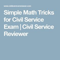 Simple Mathematics tricks for civil service examinees for Professional and Sub-Professional takers. Exam Study Tips, Exams Tips, Civil Service Reviewer, Graphic Design Cv, Bullying Posters, Practice Exam, Simple Math, Math For Kids, Mathematics