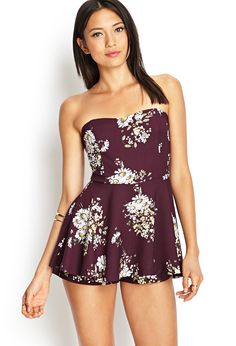 Strapless Floral Skort Dress   FOREVER21 #SummerForever