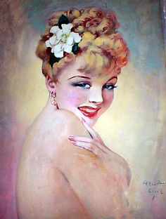 "Henry Clive ""Mademoiselle from Armintieres"" from the ""Girl Who Inspired the Song"" series of covers for American Weekly. I own this painting."