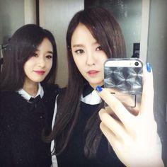 Jiyeon and Hyomin