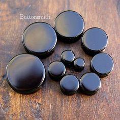 "Black Obsidian Organic Stone Plugs Double Flared - 2g - 1"" -10sizes"