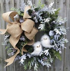 Christmas Wreath Winter Wreath Burlap Owl Wreath Snowy Greenery Snow Falling in the Forest Burlap Winter Wonderland No Red - Christmas Wreaths Owl Wreaths, Wreath Crafts, Holiday Wreaths, Holiday Crafts, Christmas Decorations, Wreath Ideas, Winter Wreaths, Yarn Wreaths, Floral Wreaths