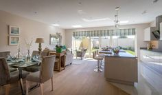 Open-plan kitchen with full appliances biggest draw