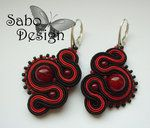 KISS FROM A ROSE - soutache earrings by ~SamanthaBossy                  Artisan Crafts / Jewelry / Earrings & Piercings©2012 ~SamanthaBossy