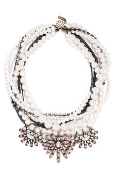 Pin for Later: 30 Fashion Gifts For Your Friend Who Won't Stop Talking About Scream Queens A Beaded Statement Necklace BaubleBar 'Bennett Layered Bib Necklace ($42)