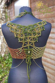 Crochet Flower of Life Halter Top/ Festival by GipsyGreen on Etsy