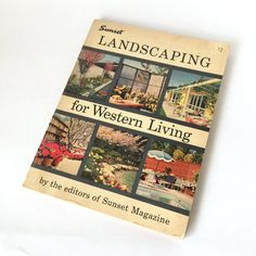 Sunset Landscaping for Western Living. Lane Book Company, Menlo Park CA. First edition, fifth printing. 1960. 192 pages.  This book is chock full of landscape designs and plant selection suggestions specifically for the climates located in the western United States. So much information, like sun exposure, soil content, plans for street side yards, back yards, enclosures and much more. Lots of illustrations and photographs. Perfect for the mid century home owner who wants to recreate a very…