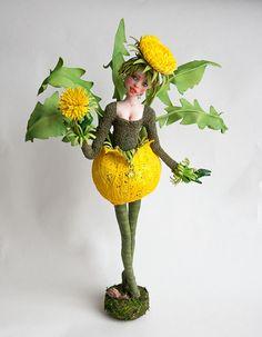 Одуванчик - All about dolls Fairy Dolls, Bjd Dolls, Alice And Wonderland Quotes, Fairy Figurines, Spirited Art, Polymer Clay Dolls, Weird Creatures, Flower Fairies, Miniature Fairy Gardens