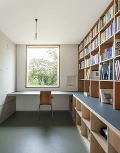 study area. built-in desk and joinery.