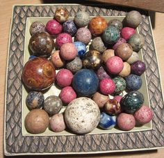 Antique Marbles Bennington and Clay PeeWees by preciousplaytime, $48.80
