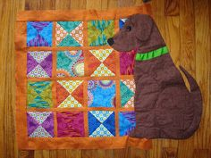 dqs8 needle turned applique dog by hectichousehold, via Flickr