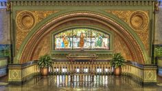 Louis Union Station Hotel, Curio Collection by Hilton, MO - Whispering Arch. we could do a blind meet and talk through the whispering arch St Louis Hotels, St Louis Downtown, Beautiful Buildings, Beautiful Places, St Louis Union Station, St Louis Mo, My Kind Of Town, Art And Architecture, Missouri