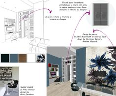Corsi Interior Design e Home Styling Milano: diventare interior designer Mood Board Interior, Interior Design Boards, Interior Design Inspiration, Interior Design Presentation, Project Presentation, Interior Concept, Concept Board, Cafe Design, Retail Design