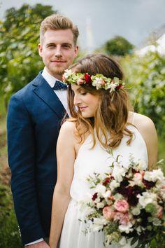 Wedding Shooting Bouquet Hochzeit  Brautpaarshooting Blumenkranz Brautstrauß - CHARMEWEDD