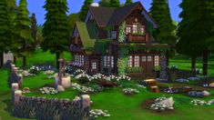 The Sims 4 Lots, Sims 4 House Design, Sims Building, Sims Ideas, Nice Houses, Sims 4 Build, Anime Scenery Wallpaper, Amazing Buildings, The Sims4
